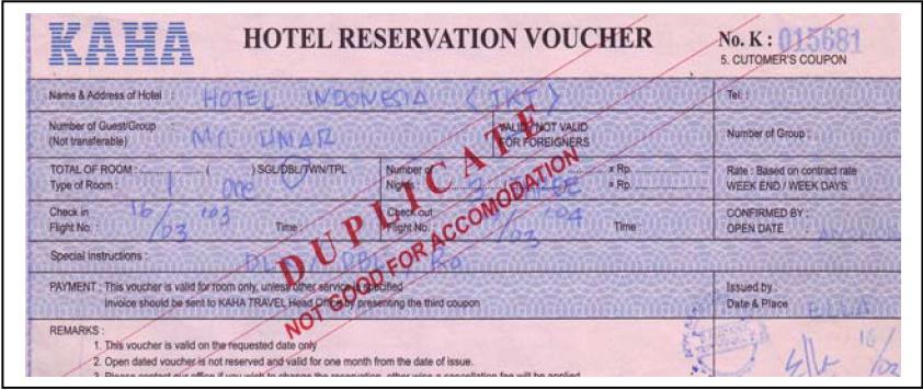 Metode pembayaran akomodasi perhotelan for Agence reservation hotel